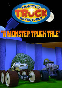 "Monster Truck Adventures: A Monster Truck Tale | Grandpa tells a fairy tail story of a huge grumpy Monster Truck and the heroes who think he's a threat. (Retelling of ""Thorn in the Lion's Paw"") Psalm 103:13"